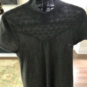 Short sleeved mock neck sweater Anthropologie